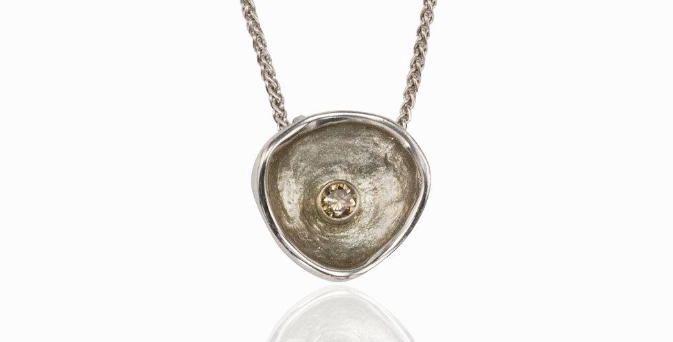 Confluence Single Large Cup Diamond Pendant
