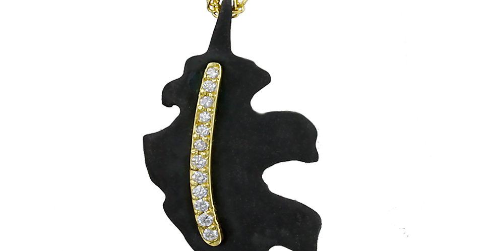 Oak Leaf Diamond Large Leaf Pendant