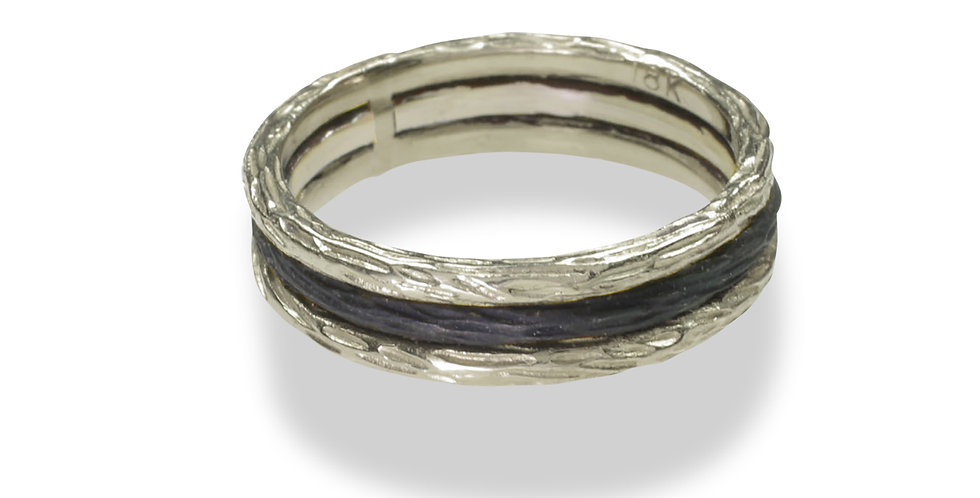 Pebble Soldered Triple Stacking Ring