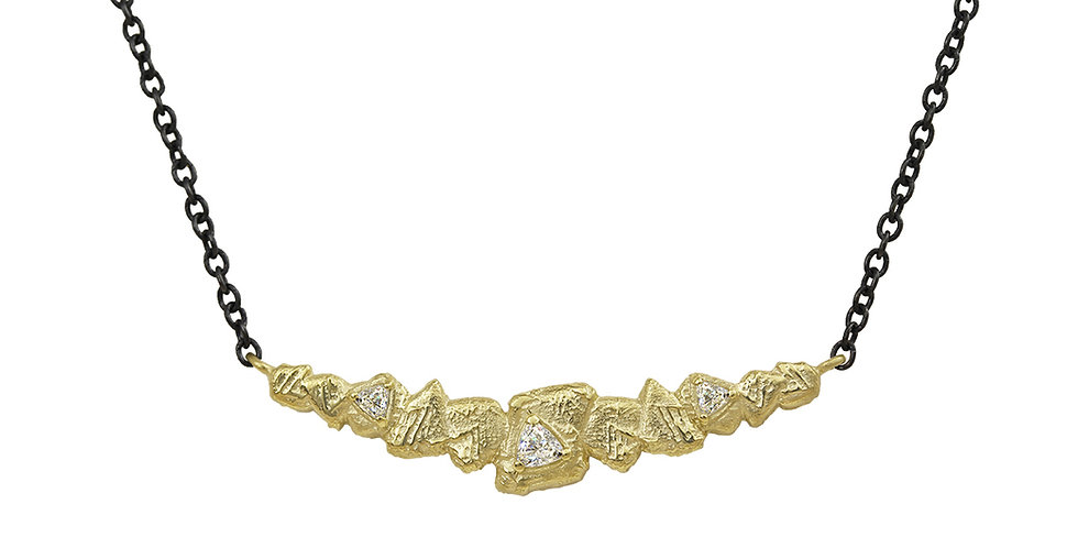 Trigon Diamond Bar Necklace