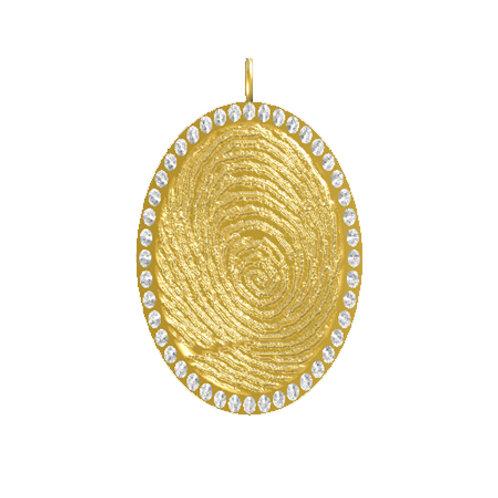 Oval Disk Diamond Pendant