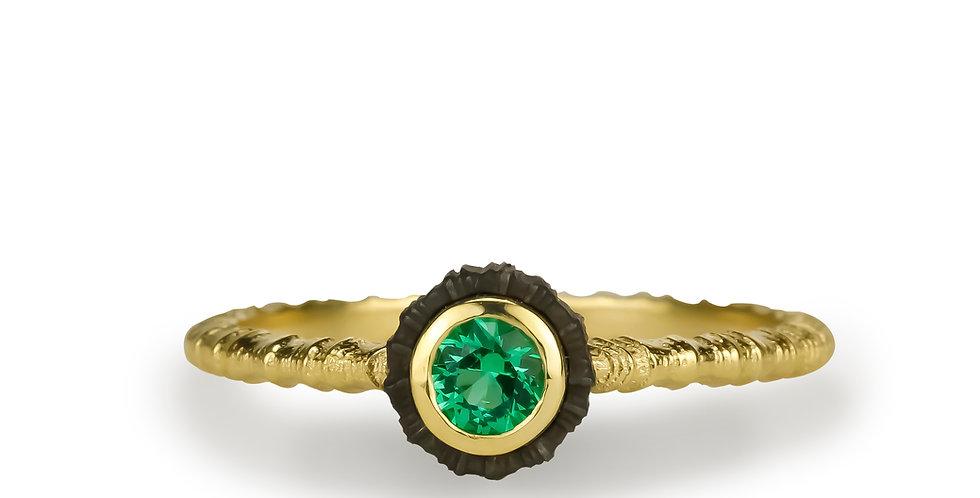 Chroma Single Stone Emerald Ring