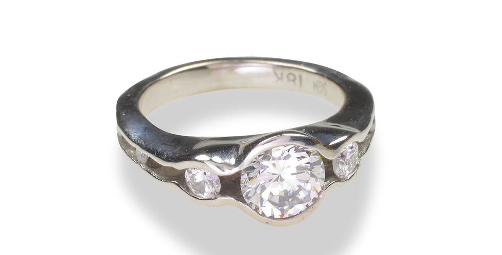 Oyster Diamond Engagement Ring