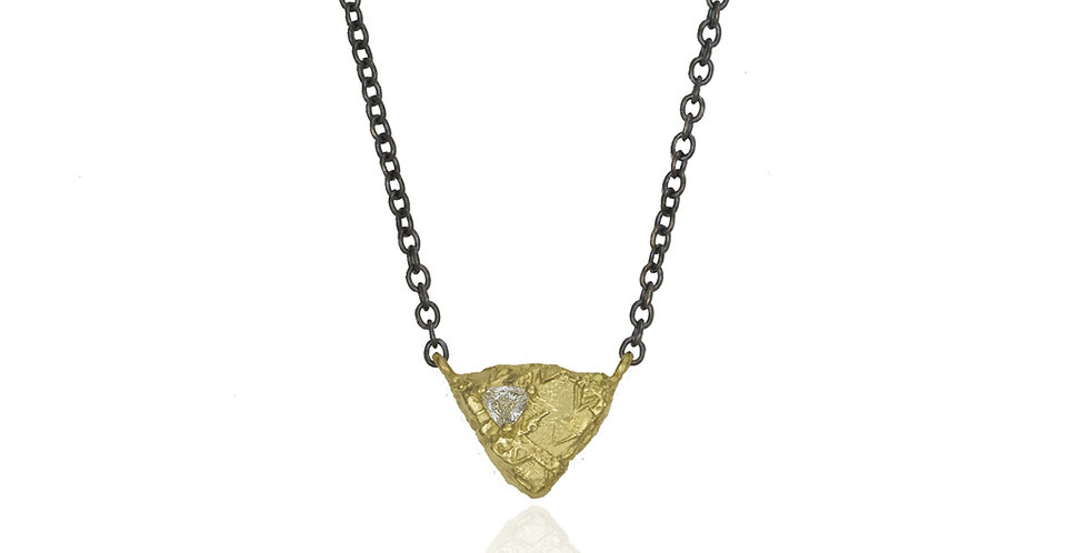 Trigon Triangle Diamond Necklace