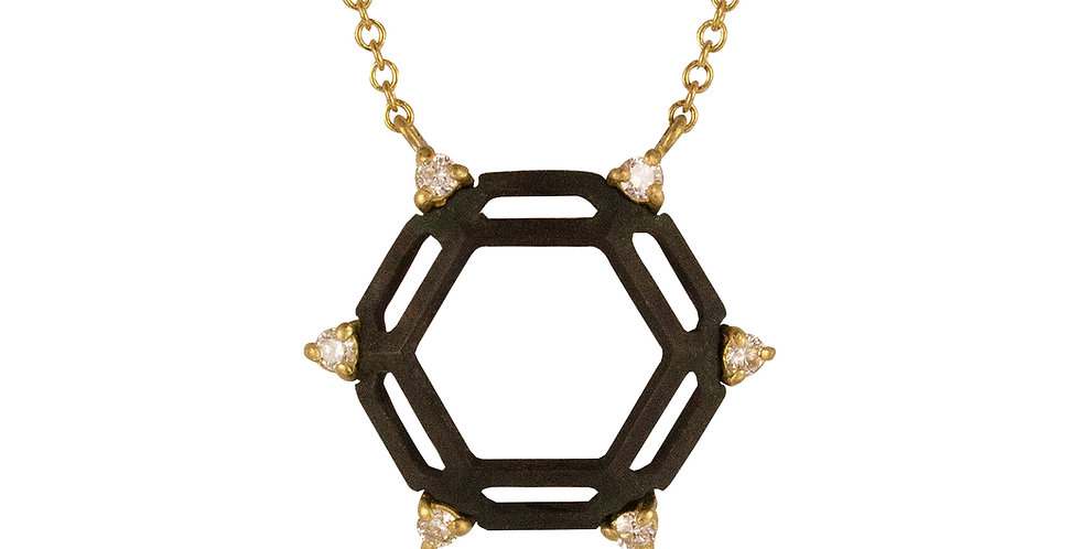 Hex Hive Diamond Necklace