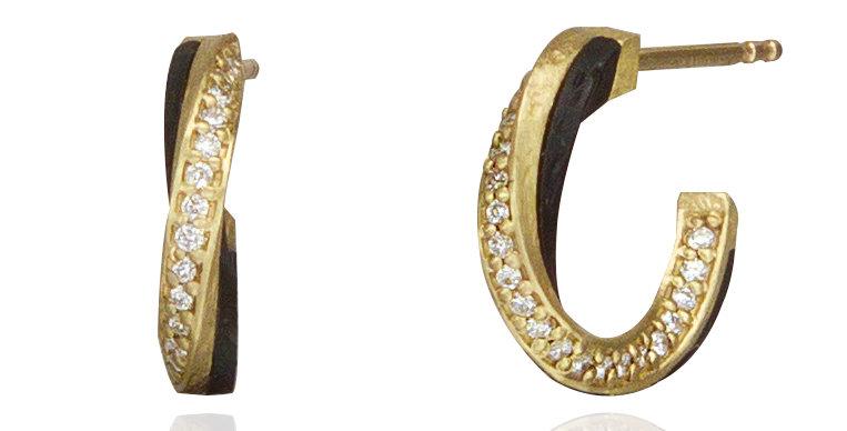Eclipse Small Diamond Hoop Earrings