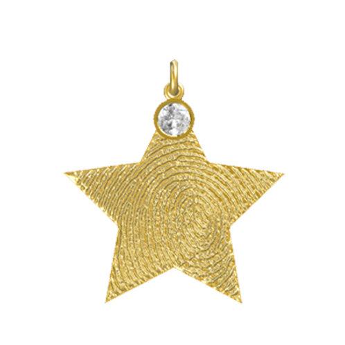 Star Layered Diamond Pendant
