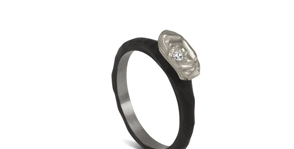Arches Horizontal Diamond Rock Ring