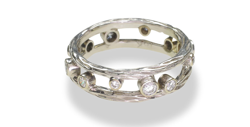Pebble Double Stacker Diamond Ring