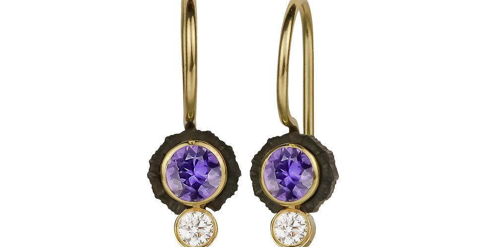 Chroma Two Stone Purple Sapphire and Diamond Wire