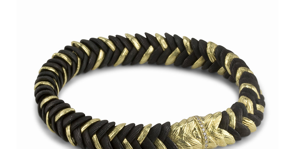 Rattlesnake Grass Diamond Bracelet