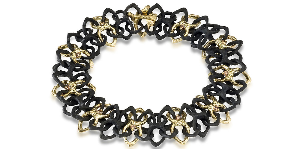 Radiolarian Diamond Chain Bracelet