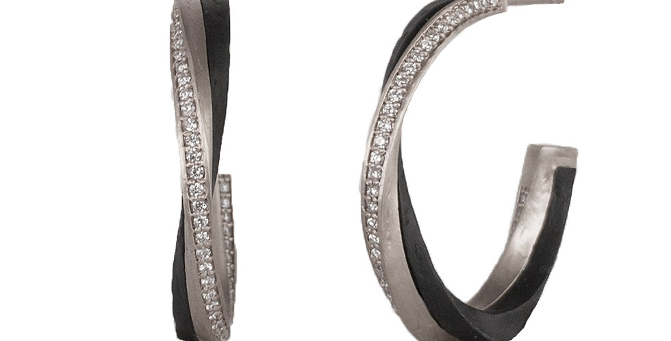 Eclipse Wide Diamond Hoop Earrings
