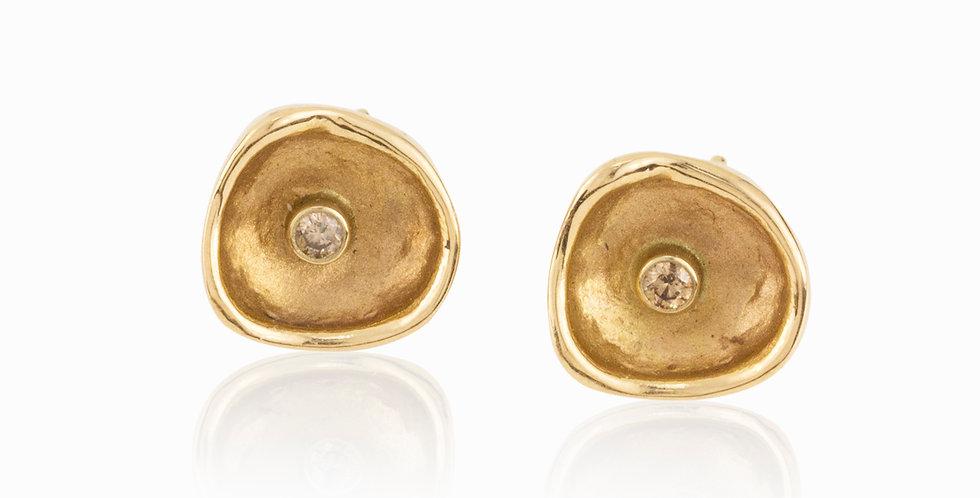 Confluence Single Large Cup Diamond Post Earrings