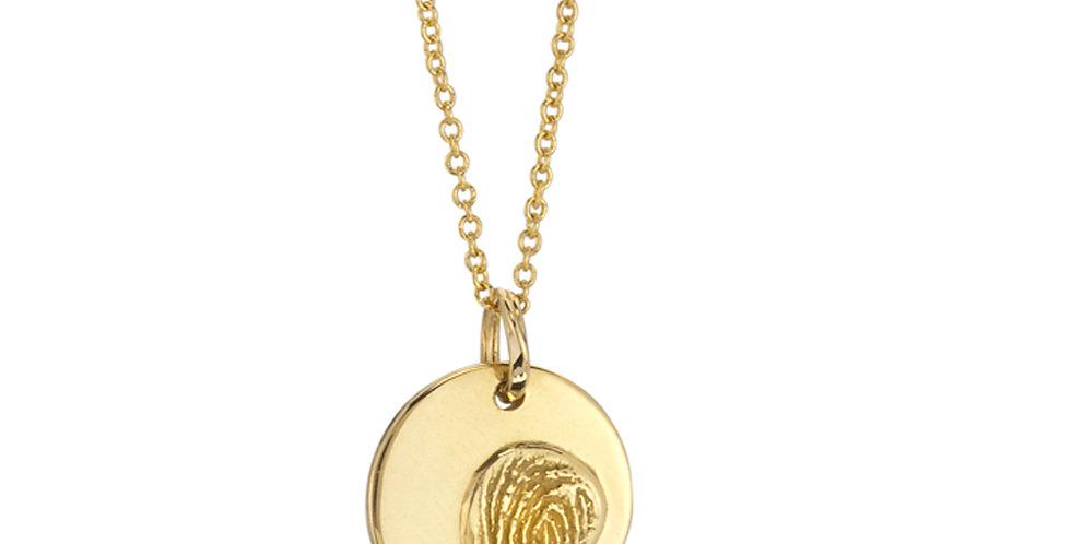 Personalized Fingerprint Medium Pendant