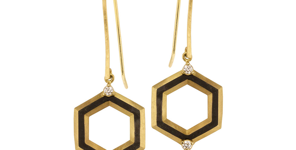 Hex Shade Diamond Earrings