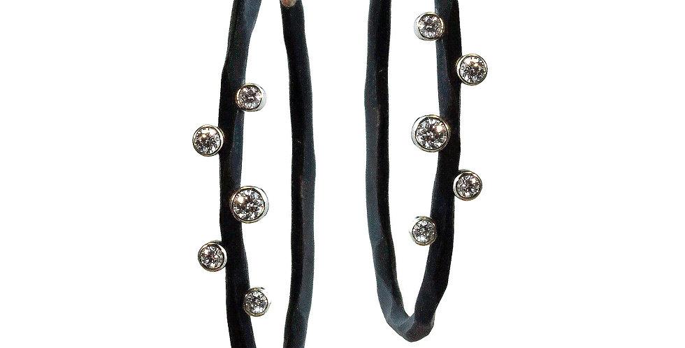 Rogue River Medium Diamond Hoop Earrings