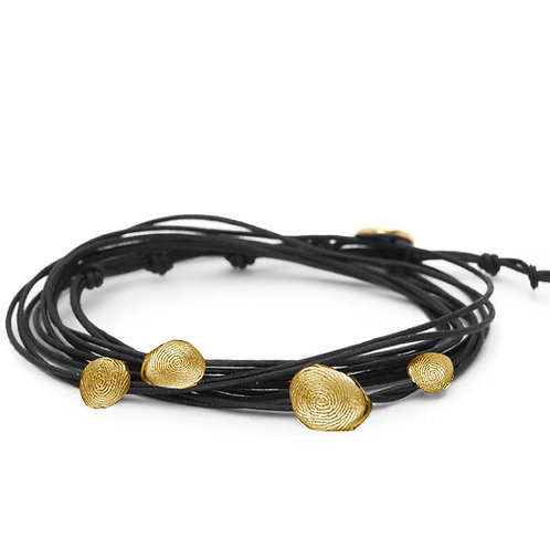 Multi Print Leather Bracelet