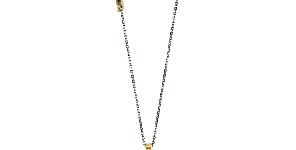 Aspen Stick Necklace with Round Diamond Pendant