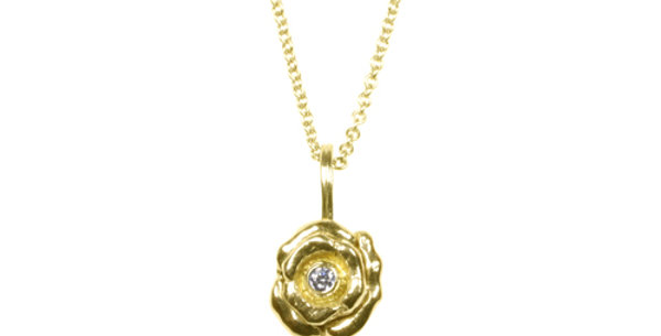 Bee Double Flower Diamond Pendant