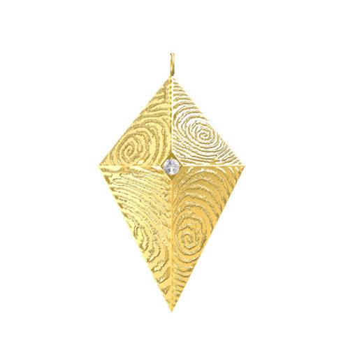 Double Diamond Dome Diamond Pendant