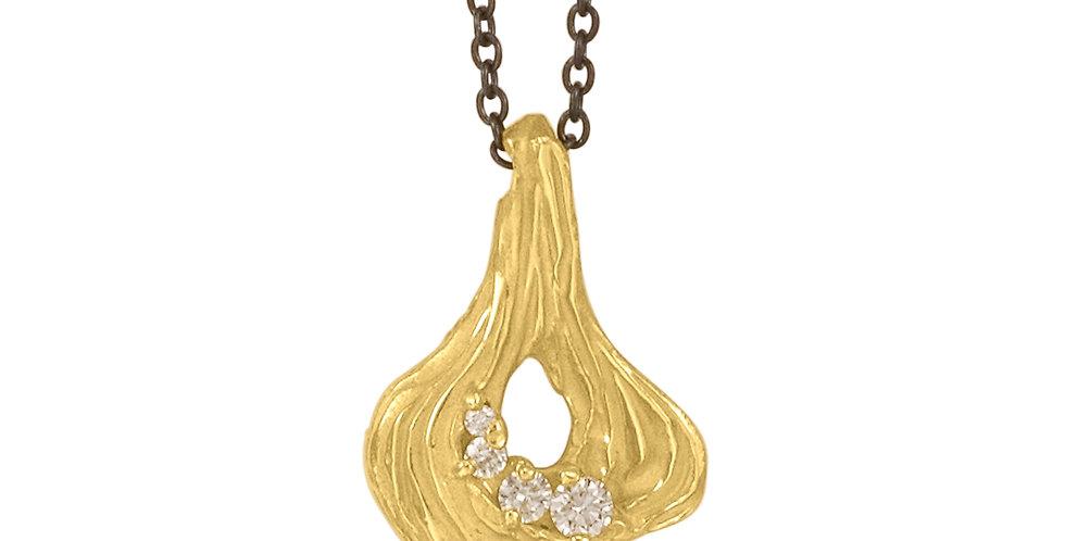 Arches Pear Diamond Pendant