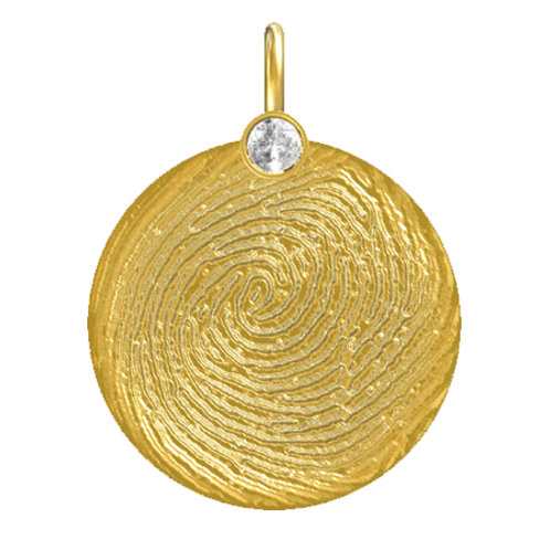 Round Disk Diamond Pendant