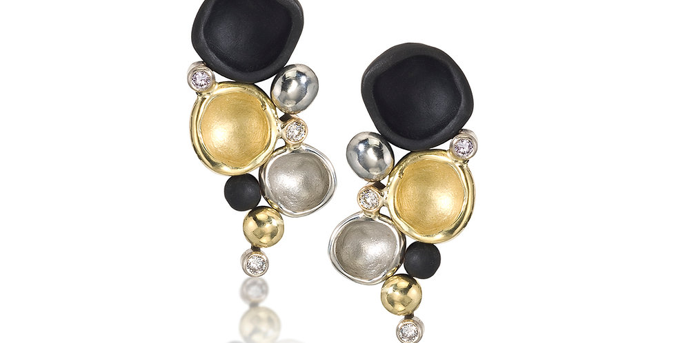 Confluence Medium Cluster Diamond Post Earrings