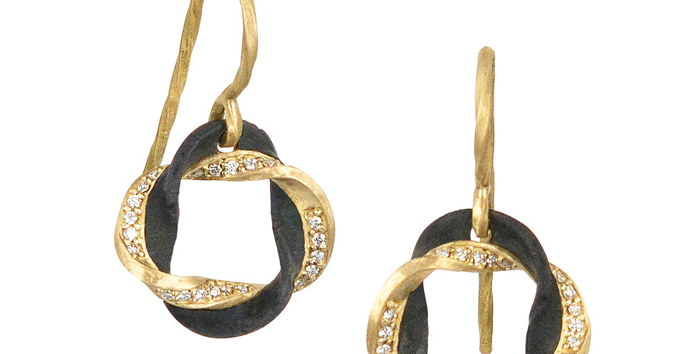 Eclipse Round Diamond Earrings
