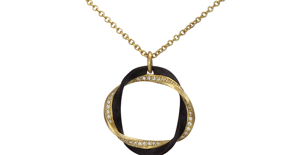 Eclipse Circle Diamond Pendant