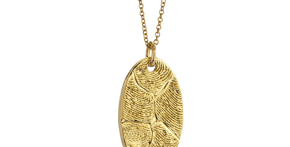 Fingerprint Oval Pendant