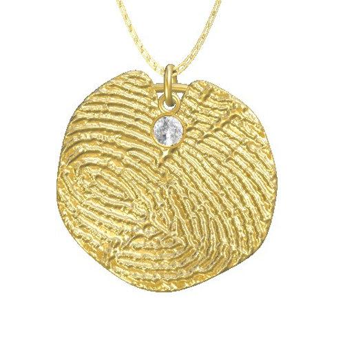 Lily Pad Diamond Pendant