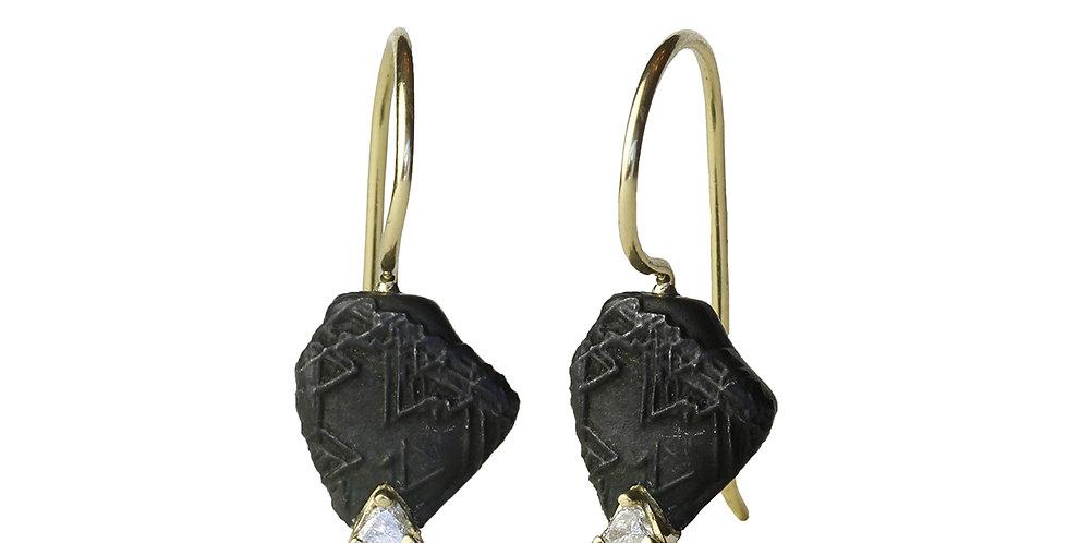 Trigon Diamond Wire Earring