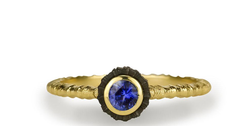 Chroma Single Stone Blue Sapphire Ring