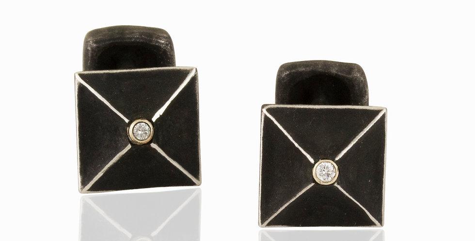 Mr Graham Spear Square Diamond Cuff Links