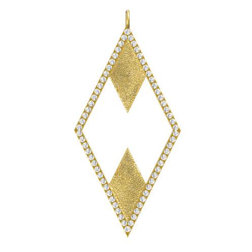 Double Diamond Diamond Pendant