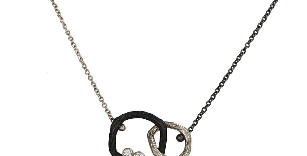 Pebble Small Diamond Double Link Necklace