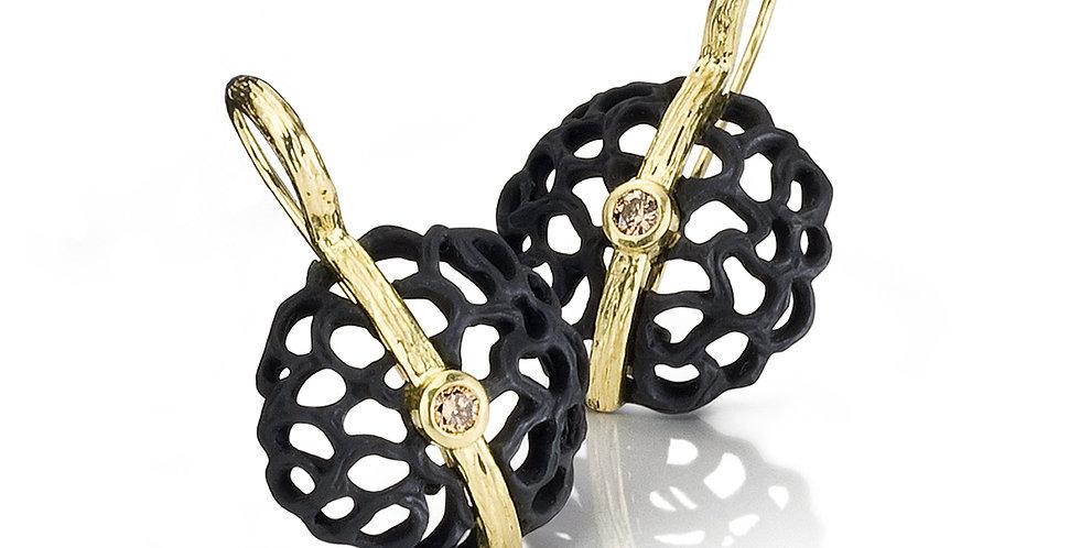 Shadows Dome Diamond Earrings