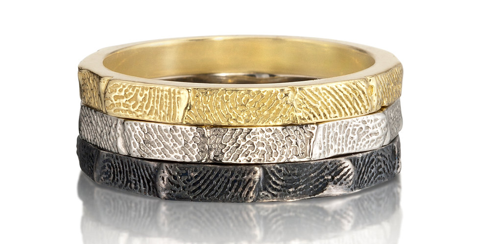 Personalized Fingerprint Stacking Rings