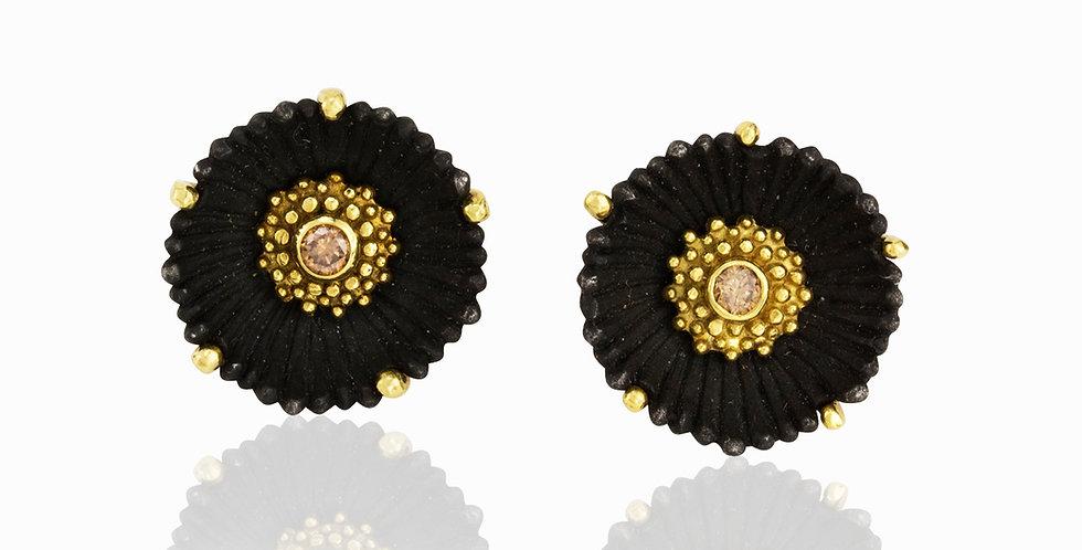 Flowering Coral Medium Post Diamond Earrings