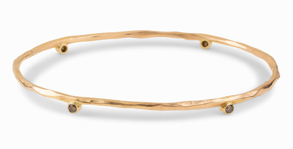 Rogue River Diamond Oval Bangle