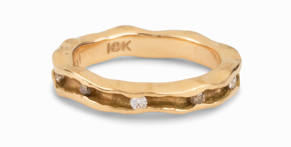 Oyster Diamond Single Channel Band