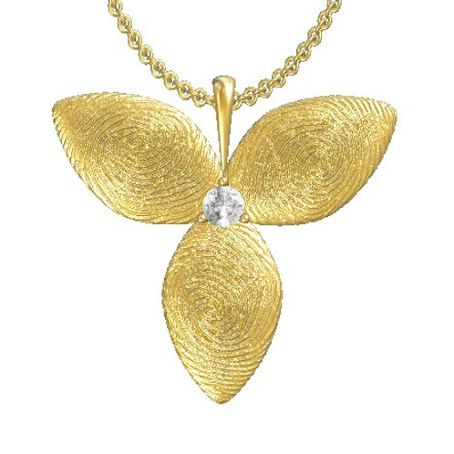 Petal Diamond Pendant