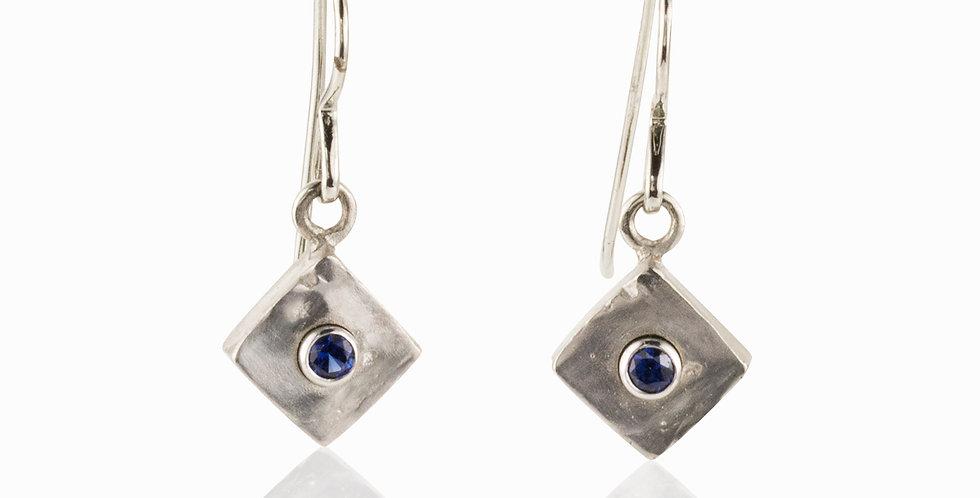 Iron Sapphire Earrings