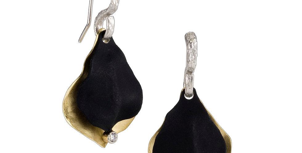 Jacaranda Small Double Pod Diamond Wire Earrings