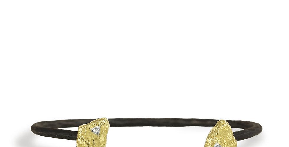 Trigon Diamond Cuff Bracelet