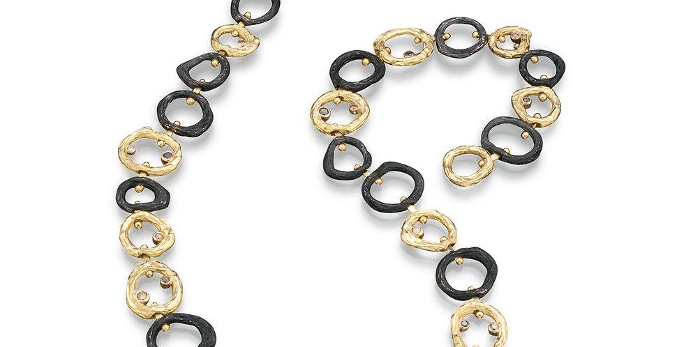 Pebble Diamond Link Necklace
