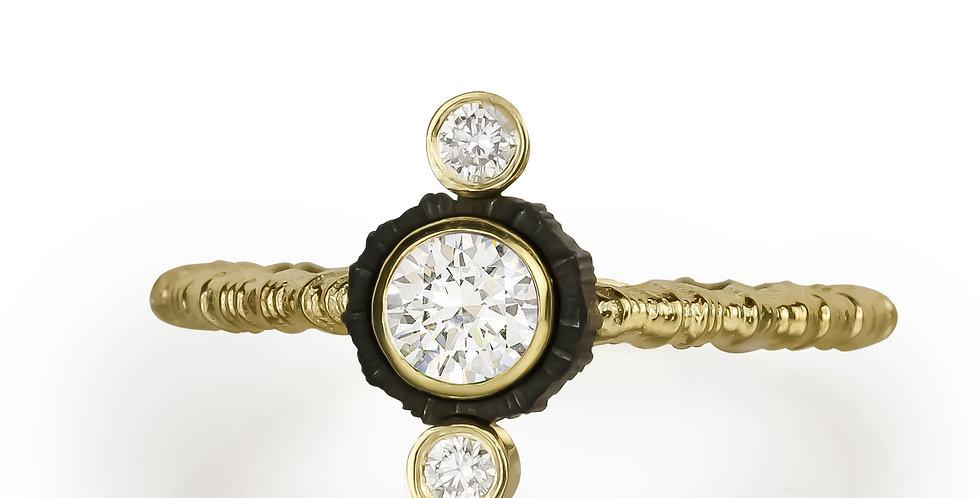 Chroma Triple Stone Vertical Diamond Ring