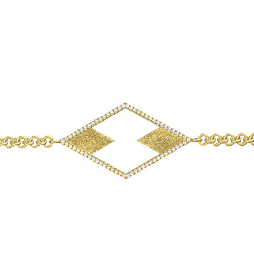 Double Diamond Horizontal Diamond Bracelet