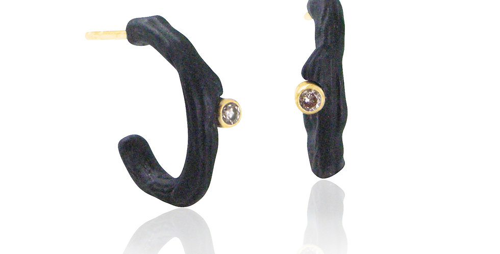 Hemp Small Diamond Hoop Post Earrings